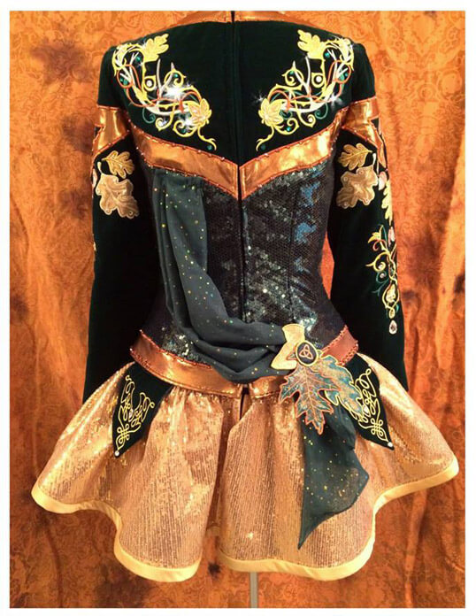 The Forest Fairy Irish dance solo dress by Craggane Designs