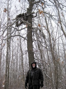 Dad and Deer Stand #1