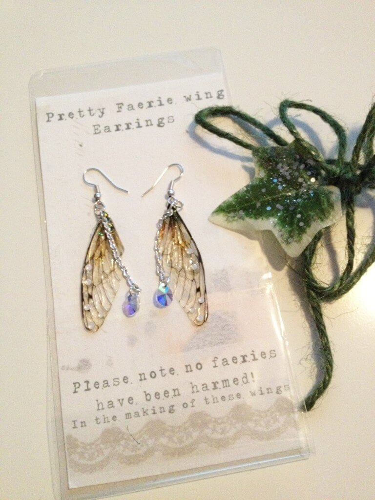 Under the Ivy Rather Pretty Faerie Wing Earrings Packaging