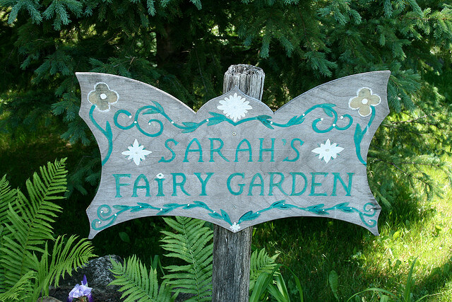 Sarah The Forest Fairy Garden Sign Welcome